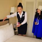 """The Sherwood Taipei 台北西華飯店"" 客人要求我們提供五種類型,可以支持精心挑選的枕頭!"