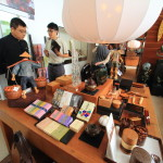 """The LALU"" Boutique shop , such as Taiwanese specialties and Toyama of traditional crafts are aligned"