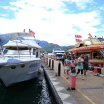 Cruising enjoy the spectacular views from the lake aboard the pleasure boat of the Sun Moon Lake!