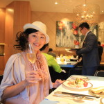 """Mandarin Oriental Taipei, private club floor lounge at breakfast the morning Champ!"