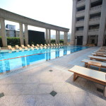 """Taipei beautiful Fuzhou University Hotel Grand Mayfull"" resort can enjoy an indoor pool and fitness"