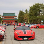Ferrari owners gathered from around the Heian shrine world like the rally cars 71!