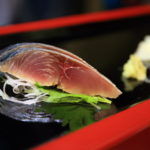 At the local sushi shop enjoy the fish in Toyama Bay silver 8 sushi winter 漁reru!