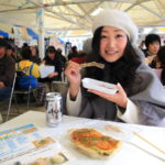 "Beach huts during ""Benten dojimahama shed Marche"" Hamana Lake Benten Island seafood you can enjoy!"