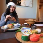 "Japanese breakfast in the source ""Kada awashima Onsen osakaya hiina no Yu"" of medicine food body please"