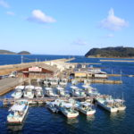 Wilderness fishing port facing the Kitan Strait Kada awashima shrine Wakayama city