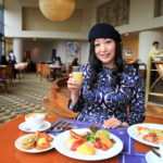 大阪凱悅麗晶酒店戶外花園俯瞰自助早餐