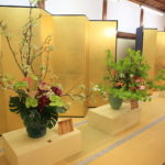 Ikebana exhibition held every year at the omuro style flower arrangement Kyoto head temple ninna-ji Temple