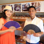 A warm Studio Nepal President Hamamatsu crafts Enshu cotton silk fan!