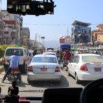 從尼泊爾首都加德滿都從旁邊的天際線鎮