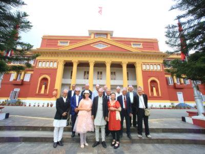 首都カトマンドゥで政治の中枢である「大統領府」へ表敬訪問!