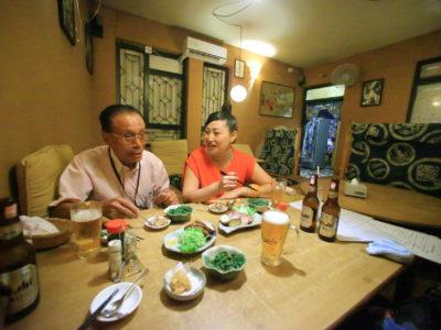 パタンの日本食レストラン「だんらん」でネパール最後のディナー