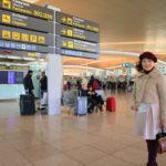 「バルセロナ エル・プラット」空港からカタール航空にて帰国のフライト