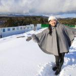 東海北高速公路在富山的雪地上奔跑