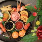"""""""新年快樂"""" 元旦! 在家裡的節日大餐, 帶來好運的緣故!"""