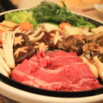 Shizuoka poles did Sukiyaki party enjoy every part of breeding with the Shizuoka sake!