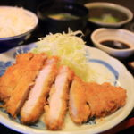 Japanese shop kikuya 2 storekeeper can operate three mating sterile rice pork tonkatsu sauce!