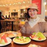 「amba台北中山」緑豊かな街路樹が清々しい台北街中レストランにて朝食