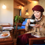 """Like bamboo Hall Cafe"" coffee at healing space surrounded by Scandinavian vintage furniture"