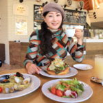 """At a cafe named """"Garden"""" and """"Sara Plaza sanarudai"""" great Thanksgiving raffle after lunch."""