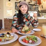 """在一個名叫 """"花園"""" 和 """"薩拉廣場 sanarudai"""" 的咖啡廳吃完午飯後的感恩節大抽獎。"""