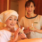 "Best spa surrounded by ""the Ritz-Carlton of Okinawa"" wormwood incense at the time of bliss"