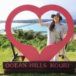 "Condos overlooking the ""Ocean hills at Kouri island"" Okinawa island and Kouri Ohashi bridge"